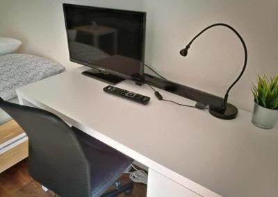 Televize v apartmánu Bratislavská