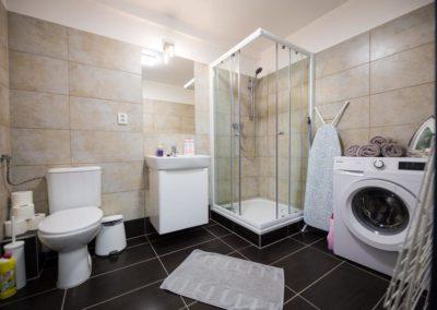 Koupelna v apartmánu Bratislavská