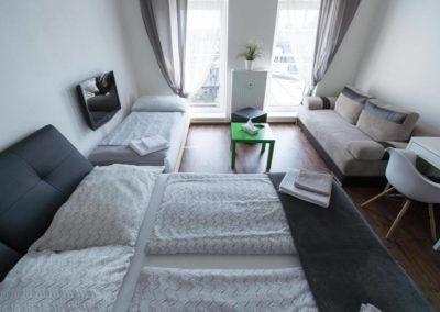 Postele v apartmánu Bratislavská