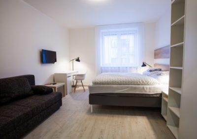 Ložnice apartmánu Haasova 1NP