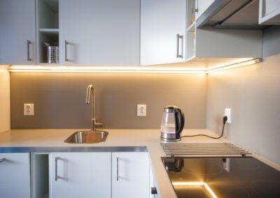 Kuchyně apartmánu Haasova 2NP