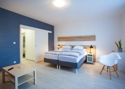 Obytná místnost apartmánu Haasova 2NP