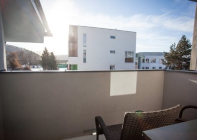 Balkón apartmánu Haasova 3NP