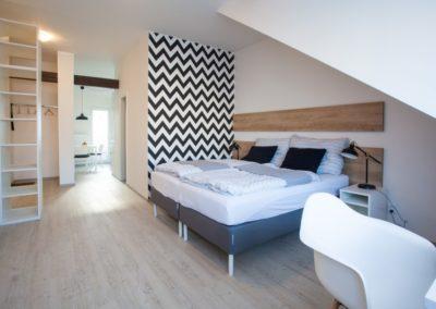 Obytná místnost apartmánu Haasova 3NP