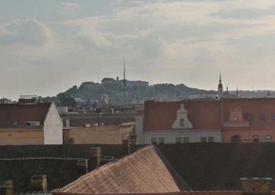 Výhled na Hrad Špilberk z apartmánu Bratislavská