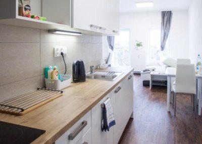 Kuchyně apartmánu Bratislavská
