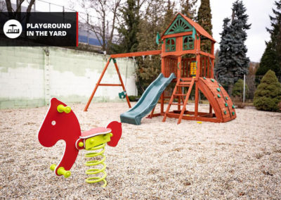 Playground in the yard