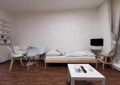 Společenská místnost apartmánu Bratislavská