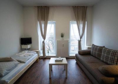 Obývací pokoj apartmánu Bratislavská